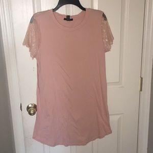 Forever 21 pink lace dress size S